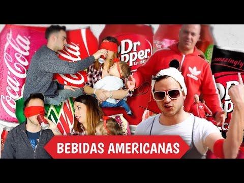 PROBANDO BEBIDAS AMERICANAS | EL RETO MÁS LOCO!! (dr pepper, coca cola, mtn dew, Barr...)