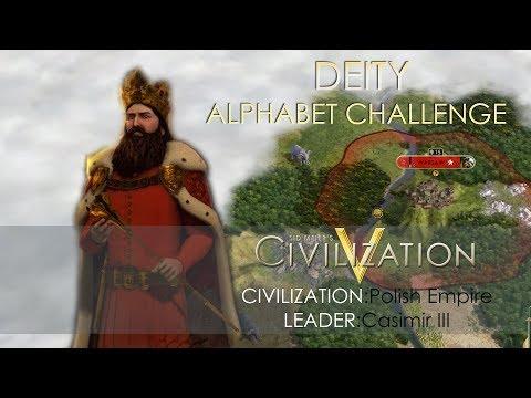 Let's Play: Civilization 5 Deity Poland- Alphabet Challenge [Part 1]