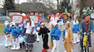 1e prijs categorie Jeugd 'De Smurfen' Carnaval 2012 Bergharen