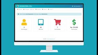 Aplikasi Penjualan Pulsa dengan PHP MySQLi dan AJAX