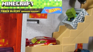 Hot Wheels Minecraft Track Blocks Abandoned Mineshaft and Nether Fortress