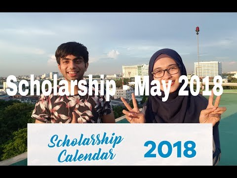 Scholarship calendar 2018 feat Indian student. Scholarship for Asian ASEAN. Beasiswa 2018. [Eng]