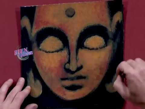 Diego Raimondo - Bienvenidas TV - Pinta un cuadro con la cara de Buda.