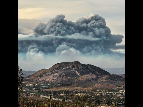 Thomas Fire resembles pyroclastic flow