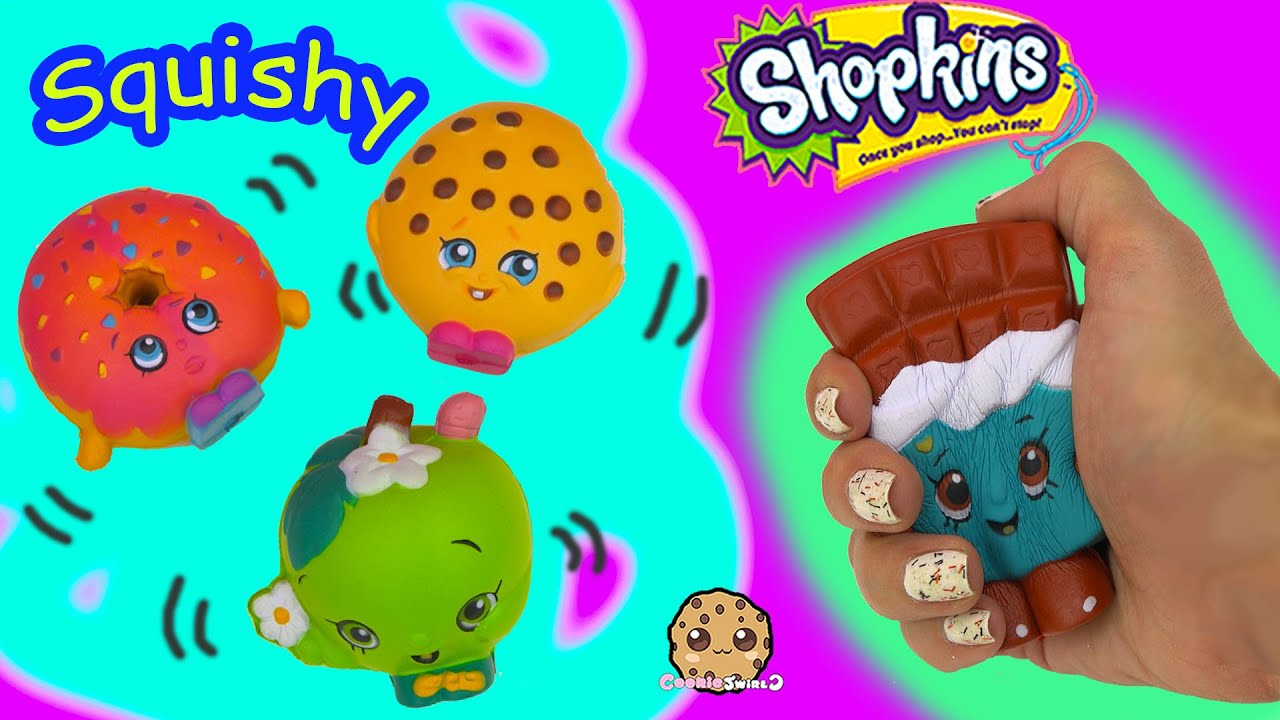 Squishy Cookieswirlc : 4 Shopkins Squishy Stress Balls from Season 1 Cheeky Chocolate Video Toy Review - Cookieswirlc ...