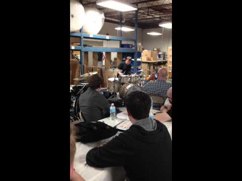 Keith Carlock plays for Steve Weiss Music at Gretsch Factory [Part 1]