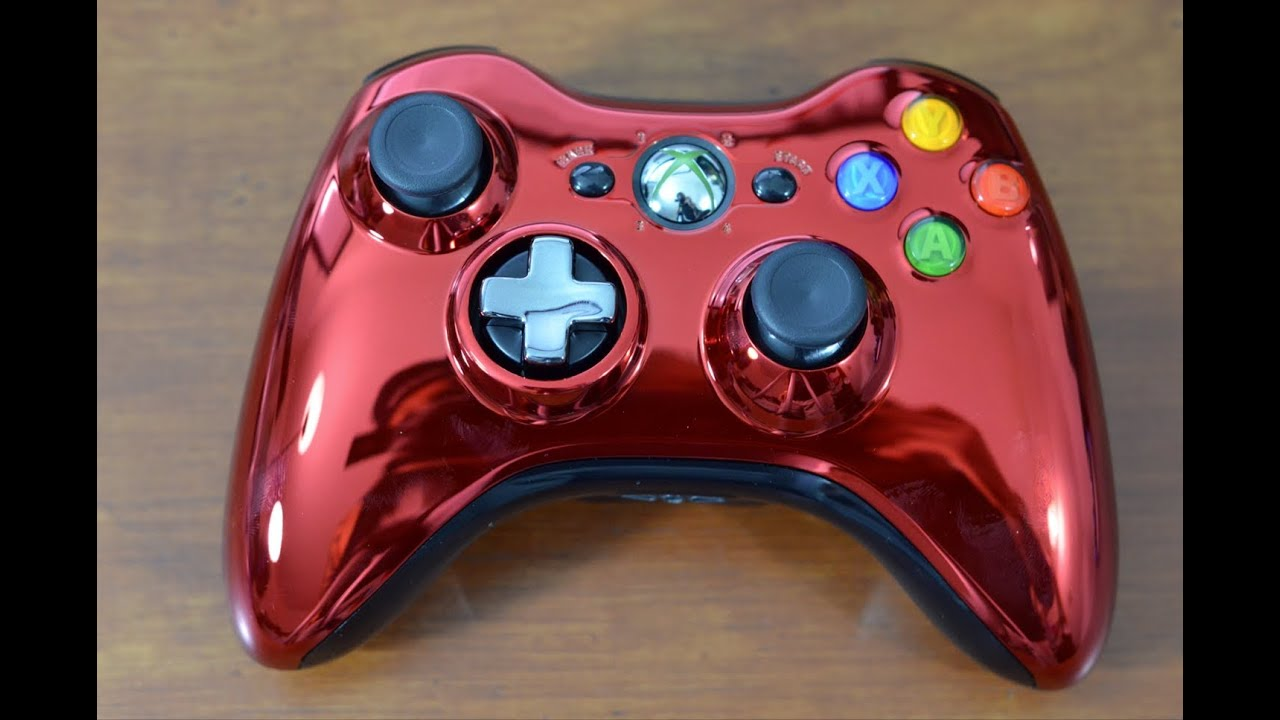Chrome Series Xbox 360 Controller Red YouTubeXbox 360 Controller Chrome Series