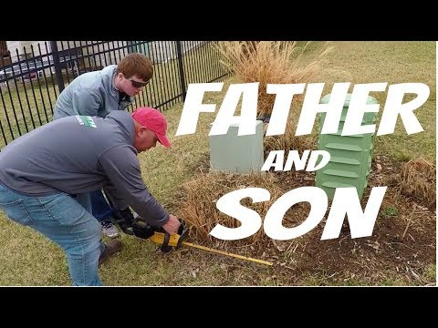 Landscape Cleanup With Tyler My Son, Lawn Care Vlog #3