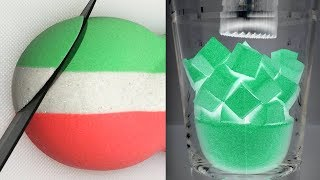 Very Satisfying Kinetic Sand Video 85 | Crunchy Sand Cutting | ASMR