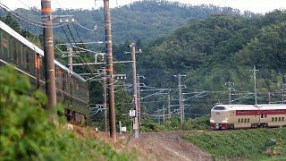 【ネタ動画】ありえない間隔で走る列車たち 瑞風とサンライズ出雲とetc.