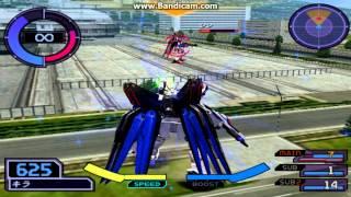 Gundam Seed Destiny Gameplay (Freedom vs. Destiny Gundam)