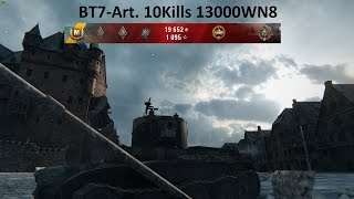 world of tanks  bt7 art 10 kills 13000wn8 acetanker