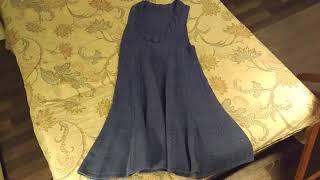 Платье-сарафан спицами цвет Деним
