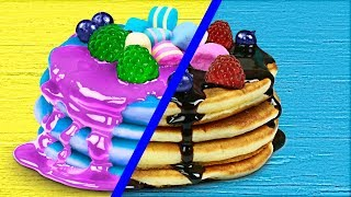 Gummy Food vs Real Food Challenge!