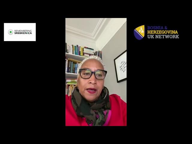 Remembering Srebrenica 2020 - Joy Warmington, CEO of BRAP