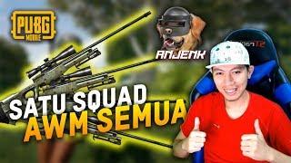 SATU SQUAD MEGANG AWM SADIS [GIVE AWAY] - PUBG MOBILE INDONESIA