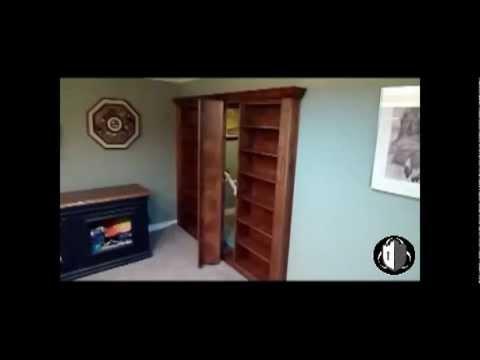 Hidden Door Swivel Bookcase Midland Texas Fortified Home Solutions