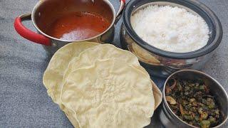 Today Lunch | காய் இல்லாத குழம்பு, வெண்டைக்காய் பிரை, அப்பளம், சாதம் | Lunch combo in Tamil