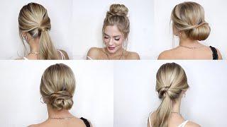 5 ИДЕЙ ПРИЧЕСОК НА ГРЯЗНЫЕ ВОЛОСЫ 5 HEATLESS HAIRSTYLES FOR DIRTY HAIR
