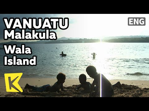 【K】Vanuatu Travel-Malakula[바누아투 여행-말라쿨라]왈라 섬, 바다에서 노는 아이들/Wala Island/Children/Diving