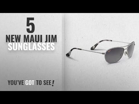 Top 10 Maui Jim Sunglasses [ Winter 2018 ]: Maui Jim Baby Beach Aviator Sunglasses, Silver