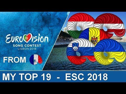 Eurovision 2018 - My Top 19 [With Hungary, Latvia, Moldova, Slovenia and Ukraine]