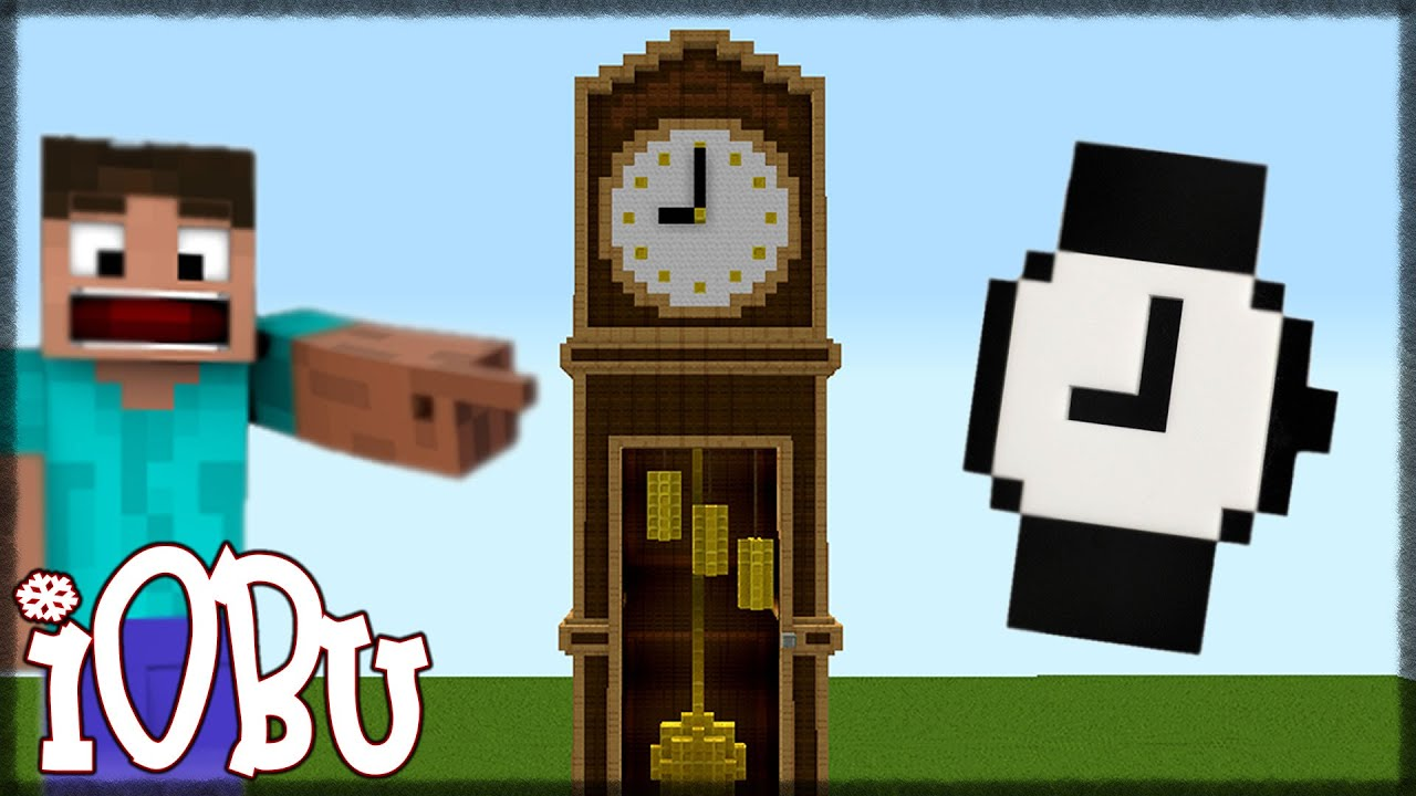 How to build a clock in minecraft