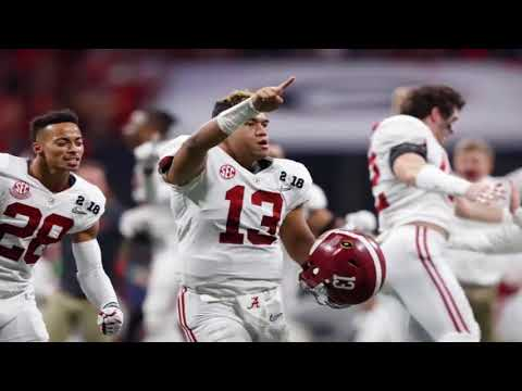 Alabama Crimson Tide Radio Call Tua Tagovailoa Game Winning TD Pass National Championship