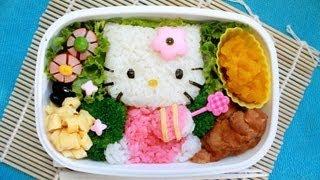 キティちゃん弁当 - Hello Kitty Bento