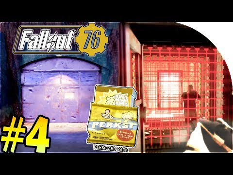 SECRET WHITESPRING VAULT / BUNKER + ROBOT SETTLEMENT + PERK CARD PACK - Fallout 76 Gameplay Part 4