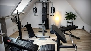 Eigener Fitness Raum Kettler Axos Kraftstation Finnlo 3865 Schmidt Hantelbank Training home Workout