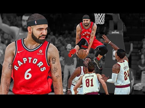 Drake's Last Game of His Contract | 50 Inch Vertical 360 In traffic Dunk | NBA 2k18 Drake MyCareer