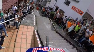 GoPro View: Urban Downhill MTB Over Crazy Stairs and Gaps