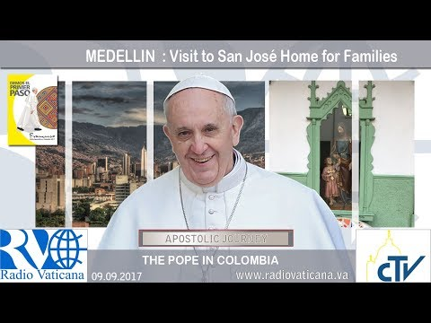 2917.09.09 - Pope Francis in Colombia - Visit to San José Home for Families