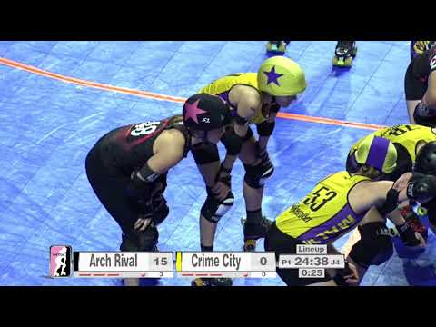 2017 International WFTDA Championships Game 14: Crime City Rollers vs  Arch Rival Roller Derby
