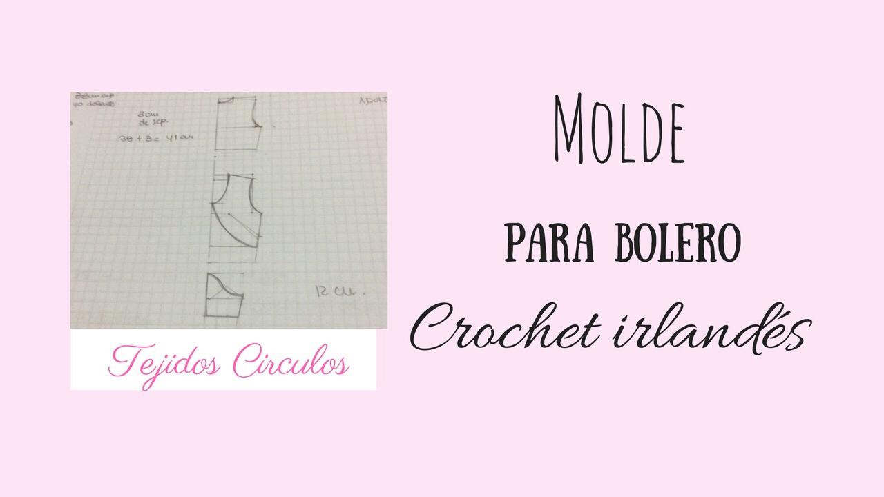 Bolero para boda en crochet irlandés- Molde - YouTube