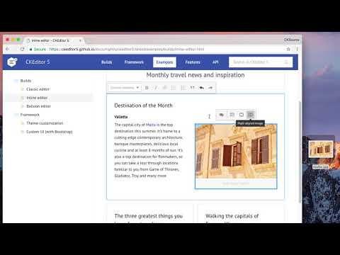 CKEditor 5 - Image drag and drop - YouTube
