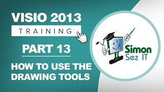 Visio 2013 for Beginners - Part 13 - How to Use Drawing Tools in Visio 2013