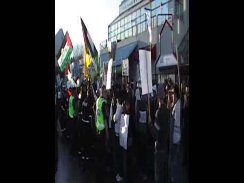 Protest at Stephen Harpers Calgary office for Gaza - Part 2