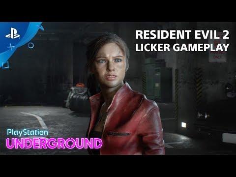 Resident Evil 2 - Licker Gameplay | PlayStation Underground