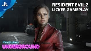 Resident Evil 2 - Licker Gameplay | PlayStation Underground