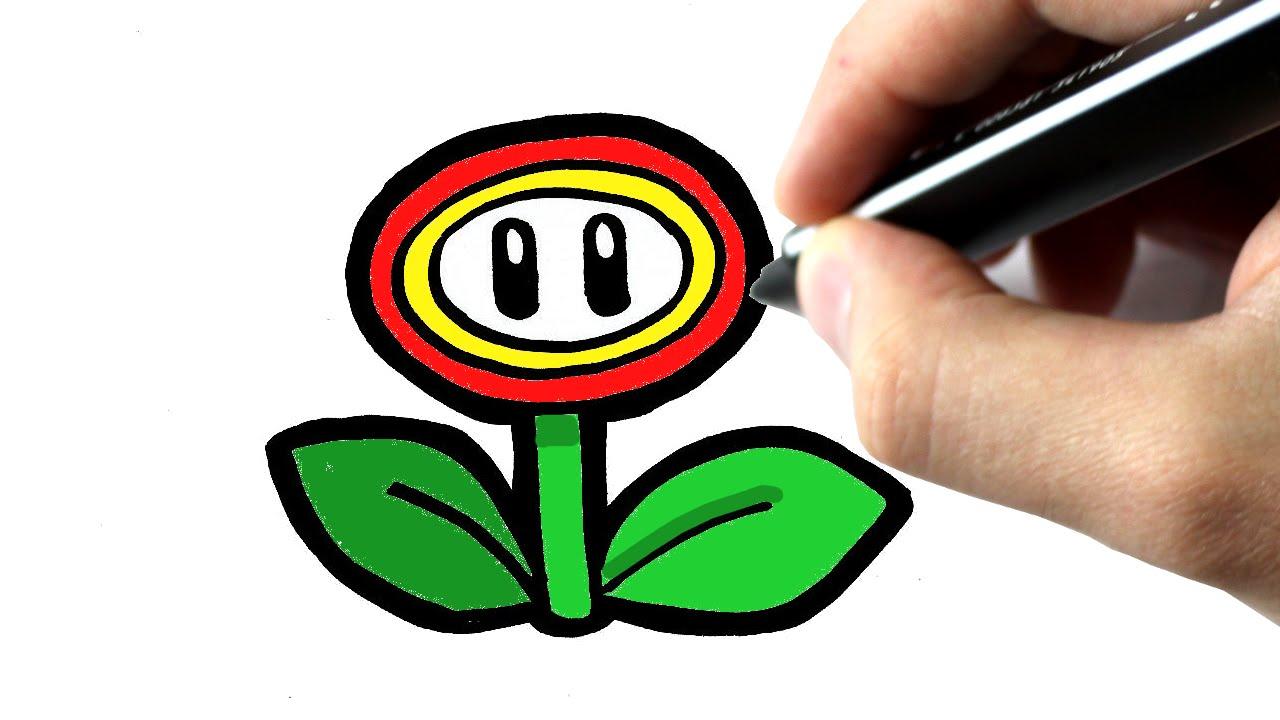Comment dessiner une fleur de mario youtube - Comment dessiner une star ...