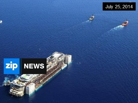 Costa Concordia To Be Towed For Scrap - July 25, 2014