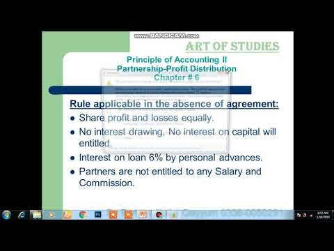 Partnership  Profit Distribution easiest Method
