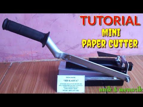 DIY Mini paper cutter || tutorial cara buat alat pemotong kertas mini ||