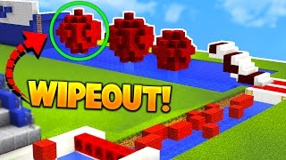 Minecraft IMPOSSIBLE WIPEOUT CHALLENGE! (Obstacle Course of Death)