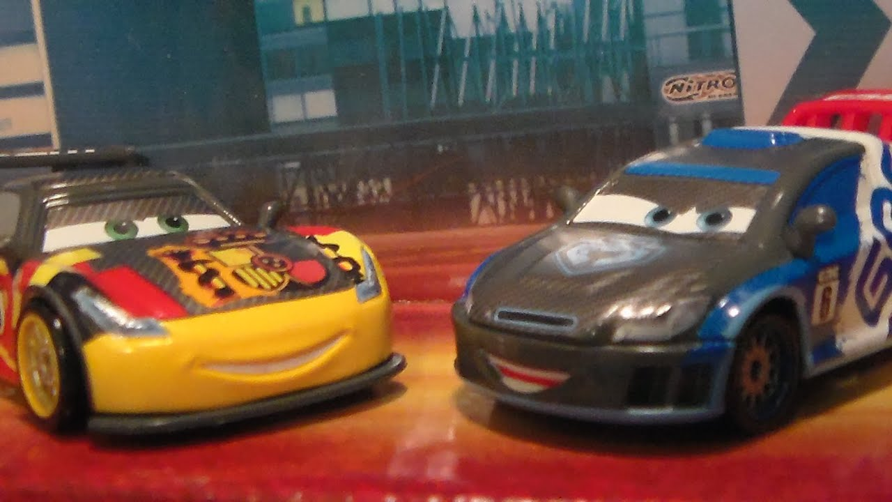 Carbon racers miguel camino raoul caroule new 2016 disney pixar cars diecast unboxing review - Coloriage cars 2 miguel camino ...