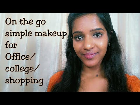 10 Minutes On The Go Daily Makeup For Office/College/Shopping(With Tips) - YouTube