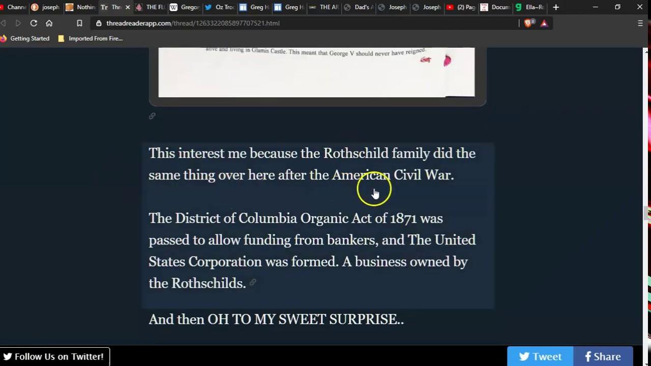 Rothschild's own everything : Joseph Gregory Hallett Statement of the Fiat Royals.
