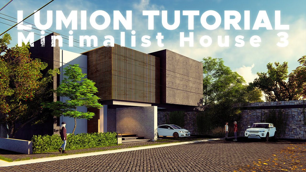 Sketchup Render Lumion 6 57 Minimalist House 3 Youtube